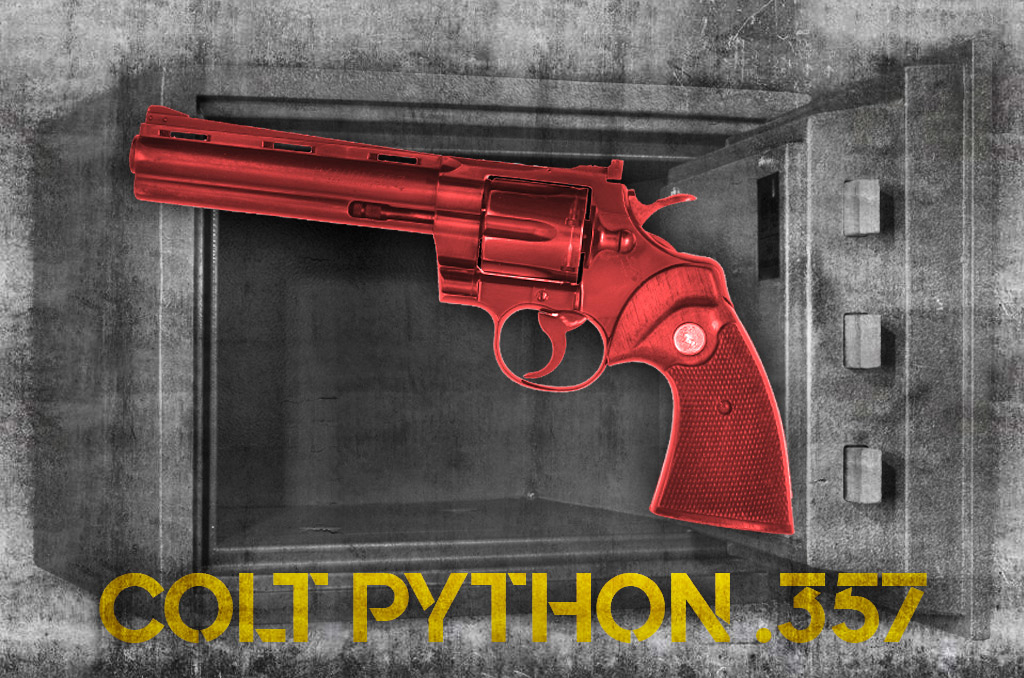a photo of the colt python 357 revolver most collectable pistols