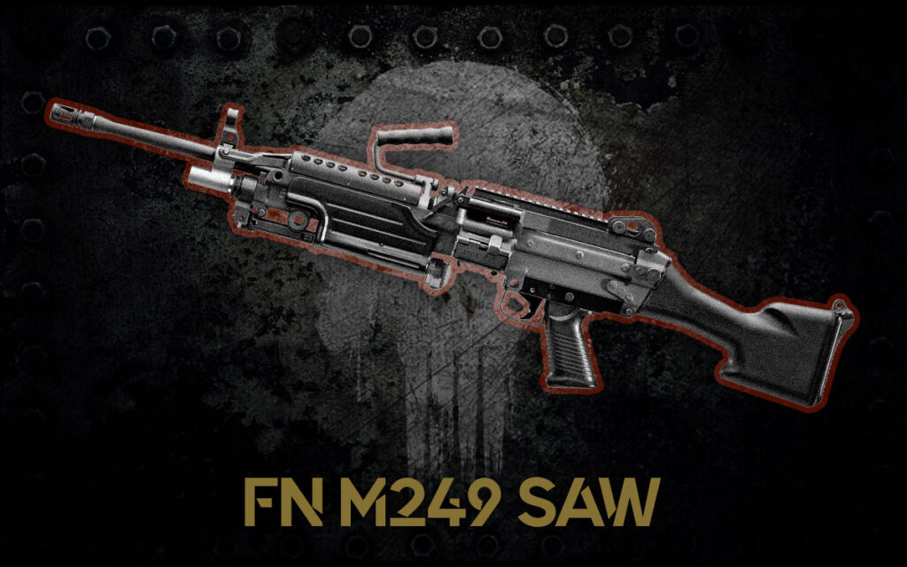 a photo of the FN M249 SAW