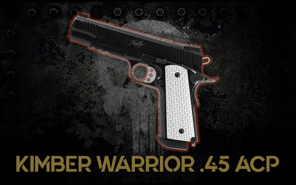 a photo of Kimber Warrior 45 ACP guns of the punisher