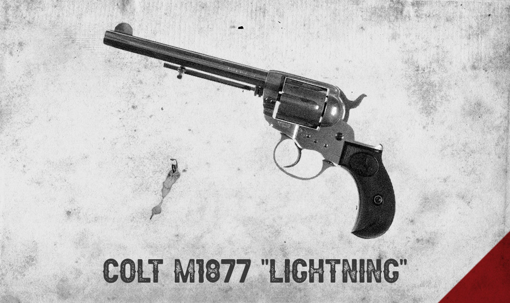 a photo of the colt m1877 lightning revolver