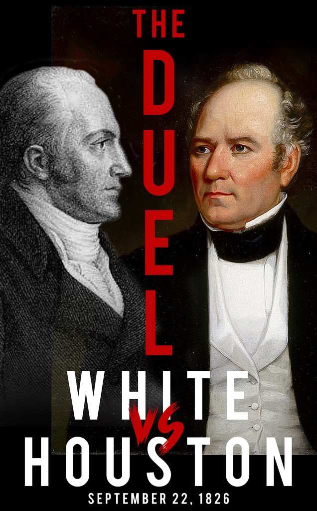 poster of Sam Houston and General William A. White