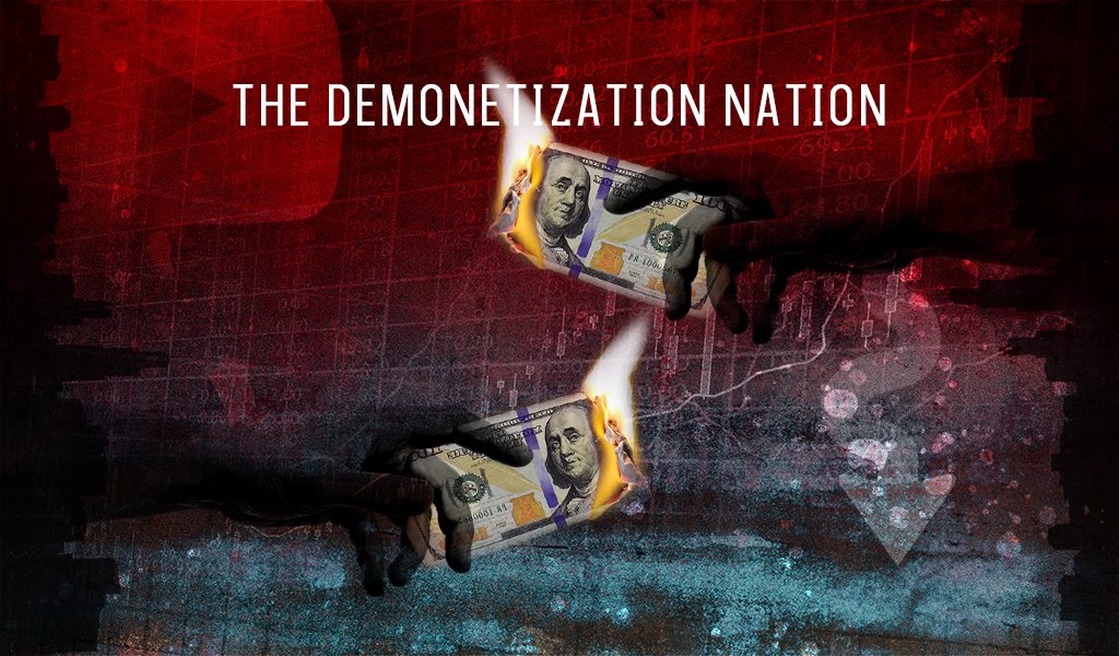 an illustration depicting the demonetization nation