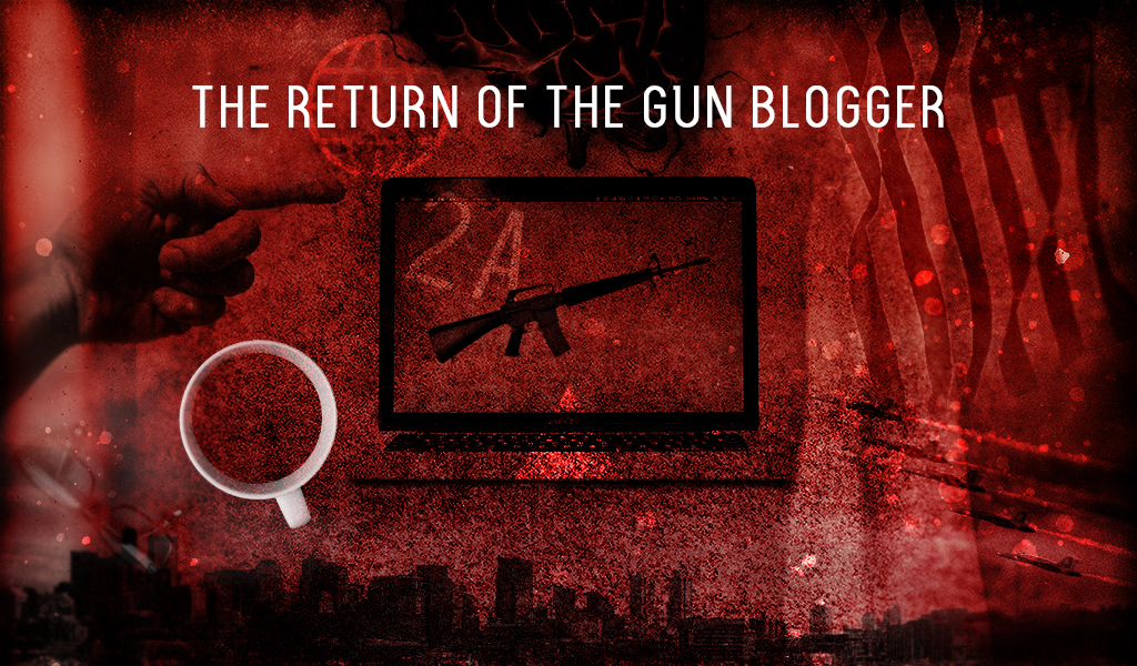 an illustration depicting the return of gun bloggers