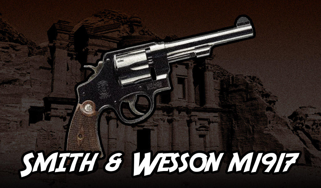 a photo of a Smith & Wesson M1917 guns of indiana jones