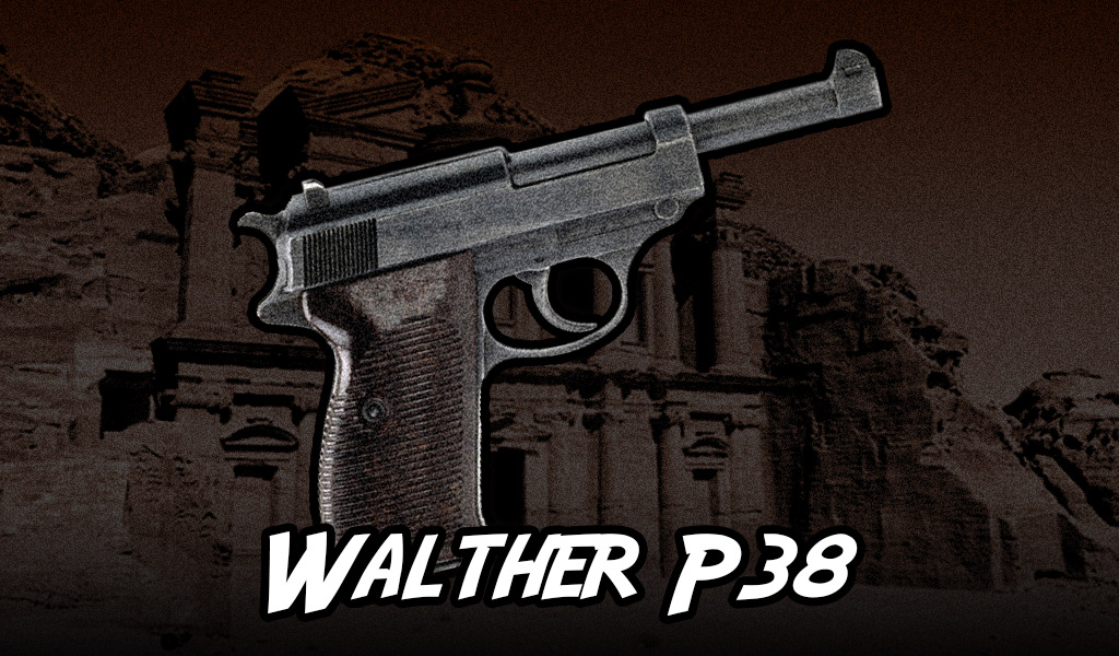 A photo of a Walther P38 pistol guns of indiana jones