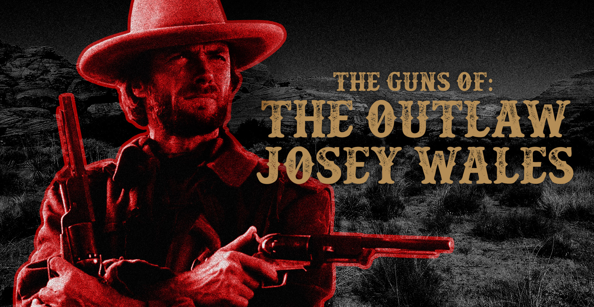 a photo of the outlaw josey Wales with a gun