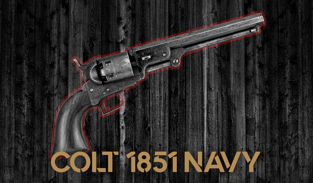 a photo of a colt 1851 navy revolver used by Josey Wales
