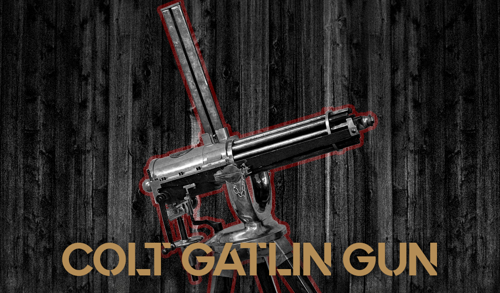 a photo of a colt gatlin gun
