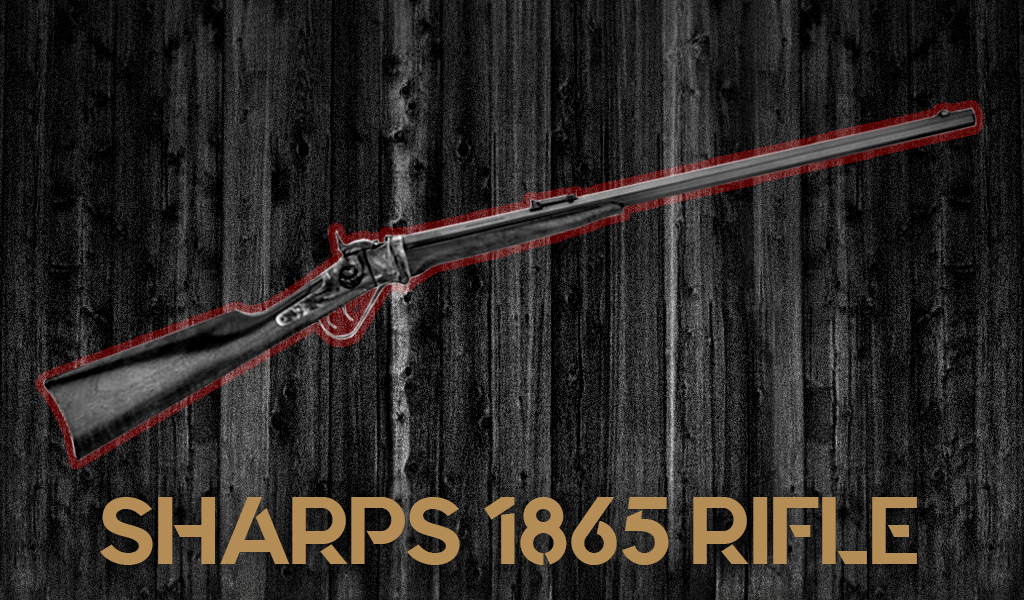 a photo of a Sharps 1865 Sniper Rifle is one of Josey Wales guns