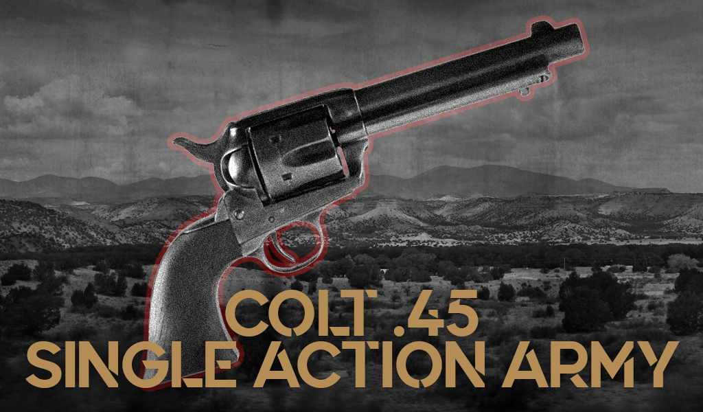 a photo of a Colt 45 Single Action Army revolver