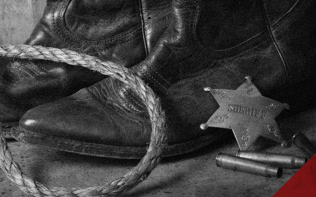 a photo of an old west sheriff badge