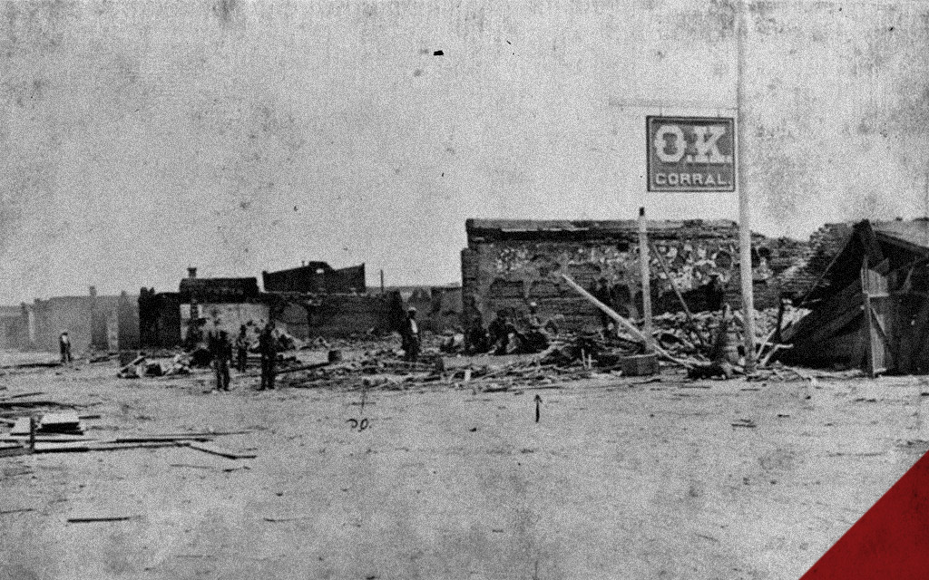 a photo of the OK Corral doc holliday gunfight
