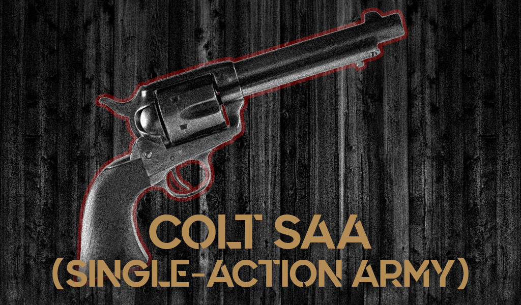 a photo of the Colt Single-Action Army Revolver