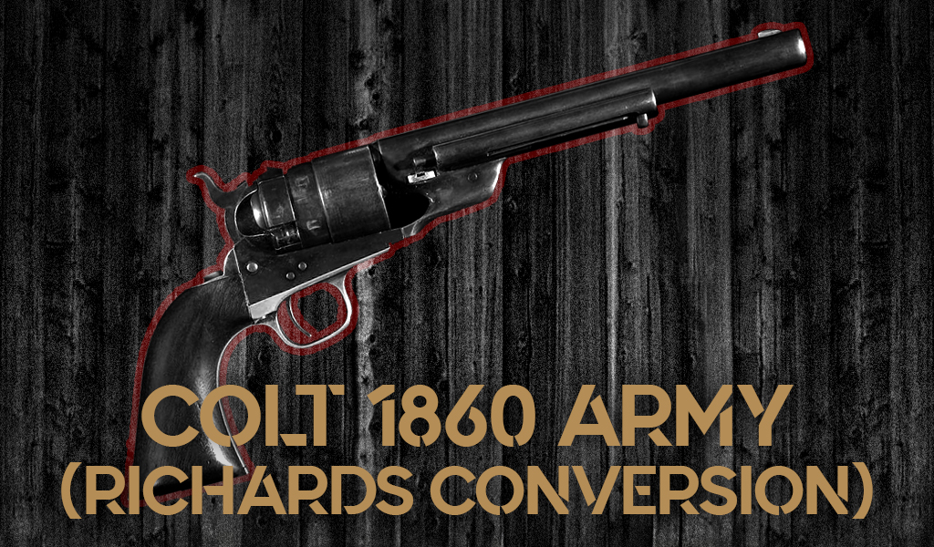 a photo of the Colt 1860 Army revolver with Richards Conversion guns of pale rider