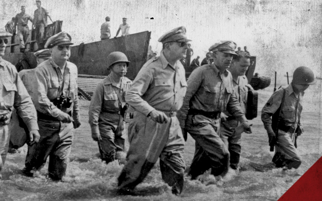 a photo of GeneralDouglas MacArthur in the Philippines