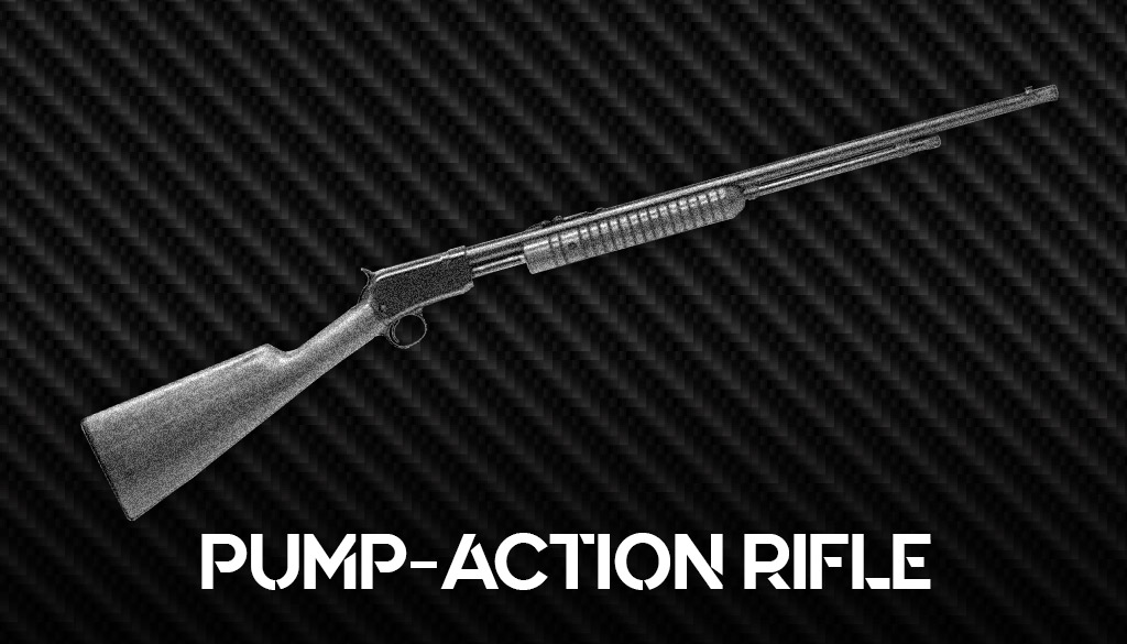 a photo of a pump action winchester model 62a rifle