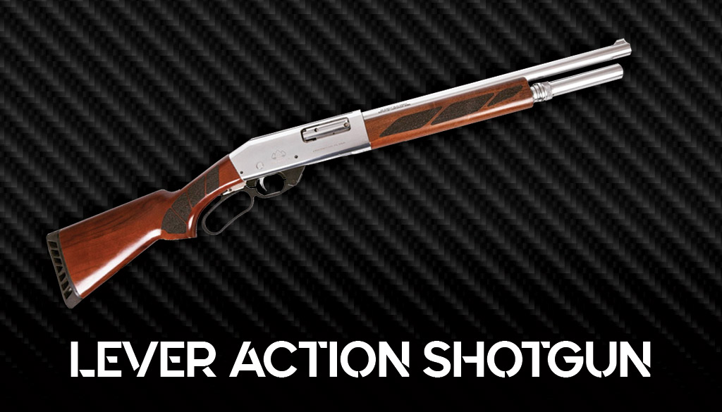 a photo of a lever action shotgun
