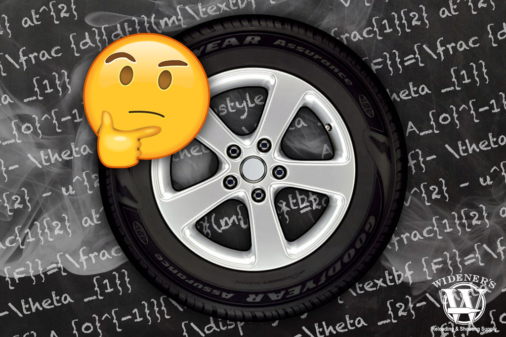 a photo of a tire with an emoji