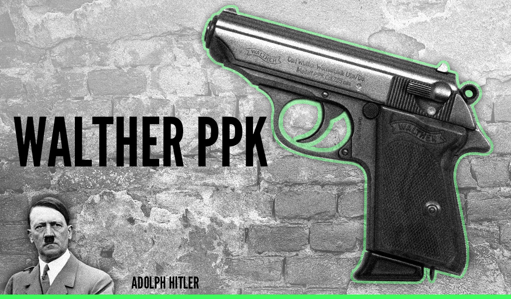 a photo of hitler's walther ppk pistol