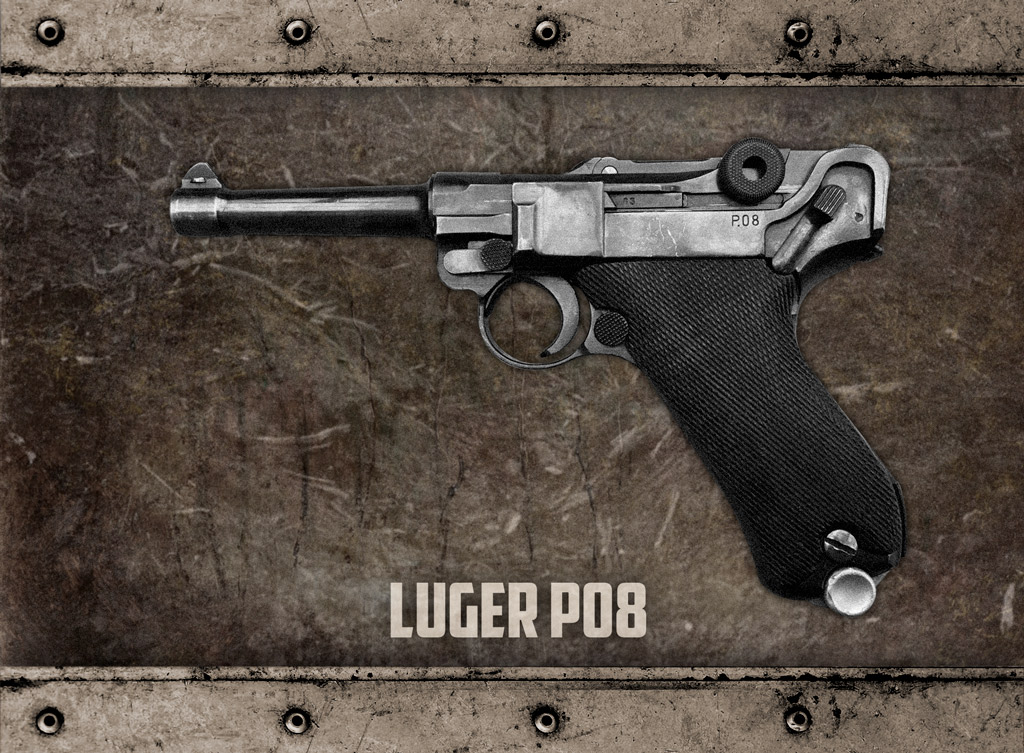 a photo of the luger p08 World War I Pistols