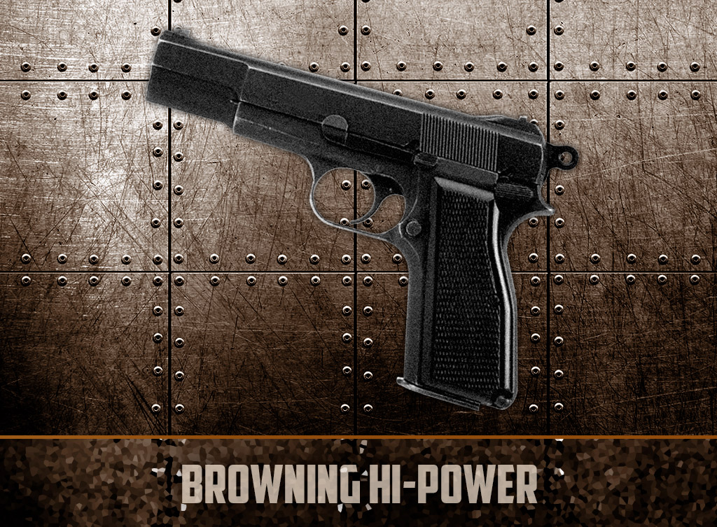a photo of the browning hi-power 9mm pistol