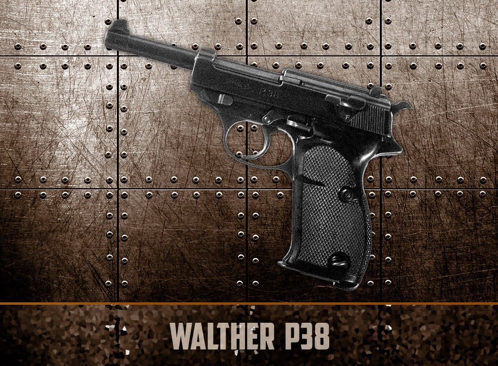 a photo of World War II Pistols showing the Walther P38
