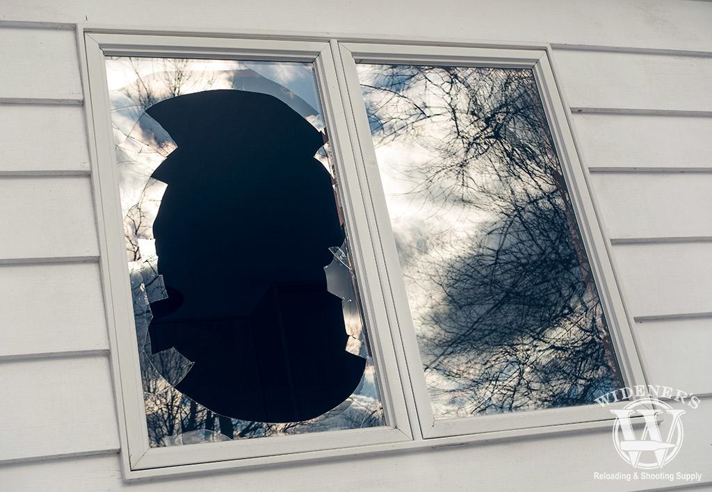 photo of a broken window during a home invasion situational awareness id the best home defense